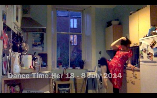 'Dance Time Her' - 84 Dance Series in my kitchen whilst infant son sleeping, livestreamed. Credit: Kate E. Deeming