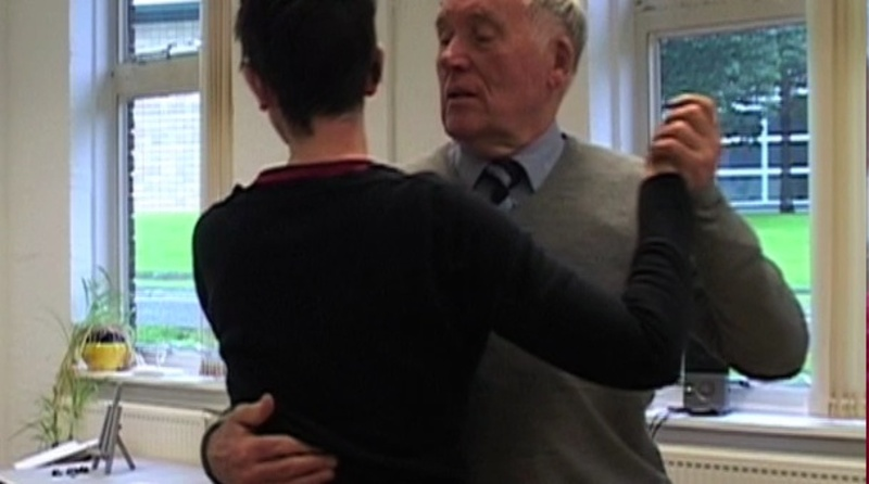 Image from 'Creative Past, Present and Future' short film. Brian teaching me the tango. 2017 Credit: EK